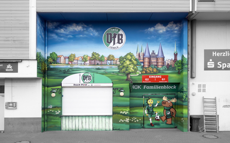 AOK / VfB Lübeck mural art